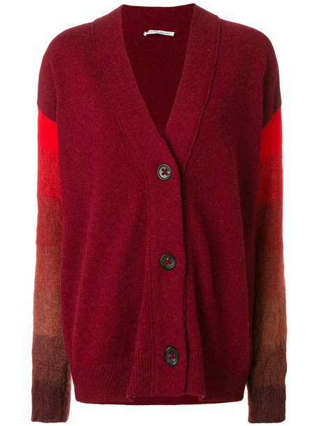 Agnona cardigan cardigan fur women mohair wool camel red sweater