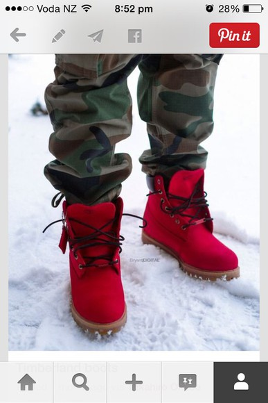 red shoes red colour timberlands timberlands mens shoes