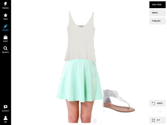 skirt spring turquise pastel skirt cute skirts