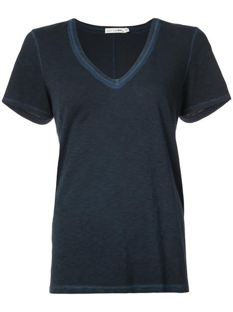 t-shirt shirt t-shirt women cotton blue top