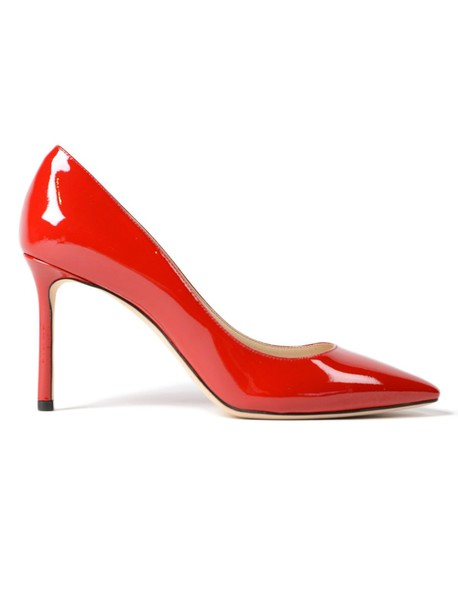 Jimmy Choo leather red shoes