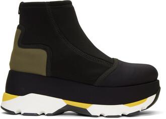 black neoprene shoes