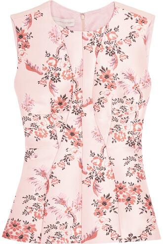 top jacquard floral blush