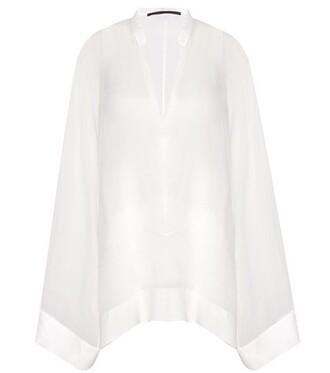 blouse silk white top