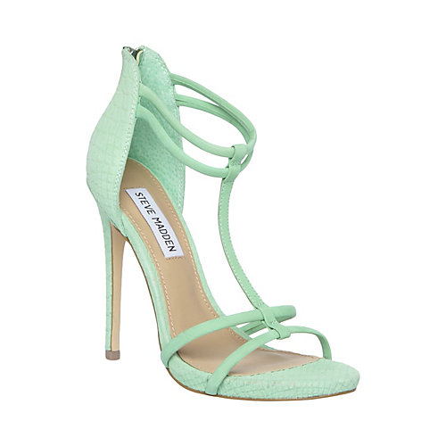 MILA MINT GREEN women's dress high t-strap - Steve Madden