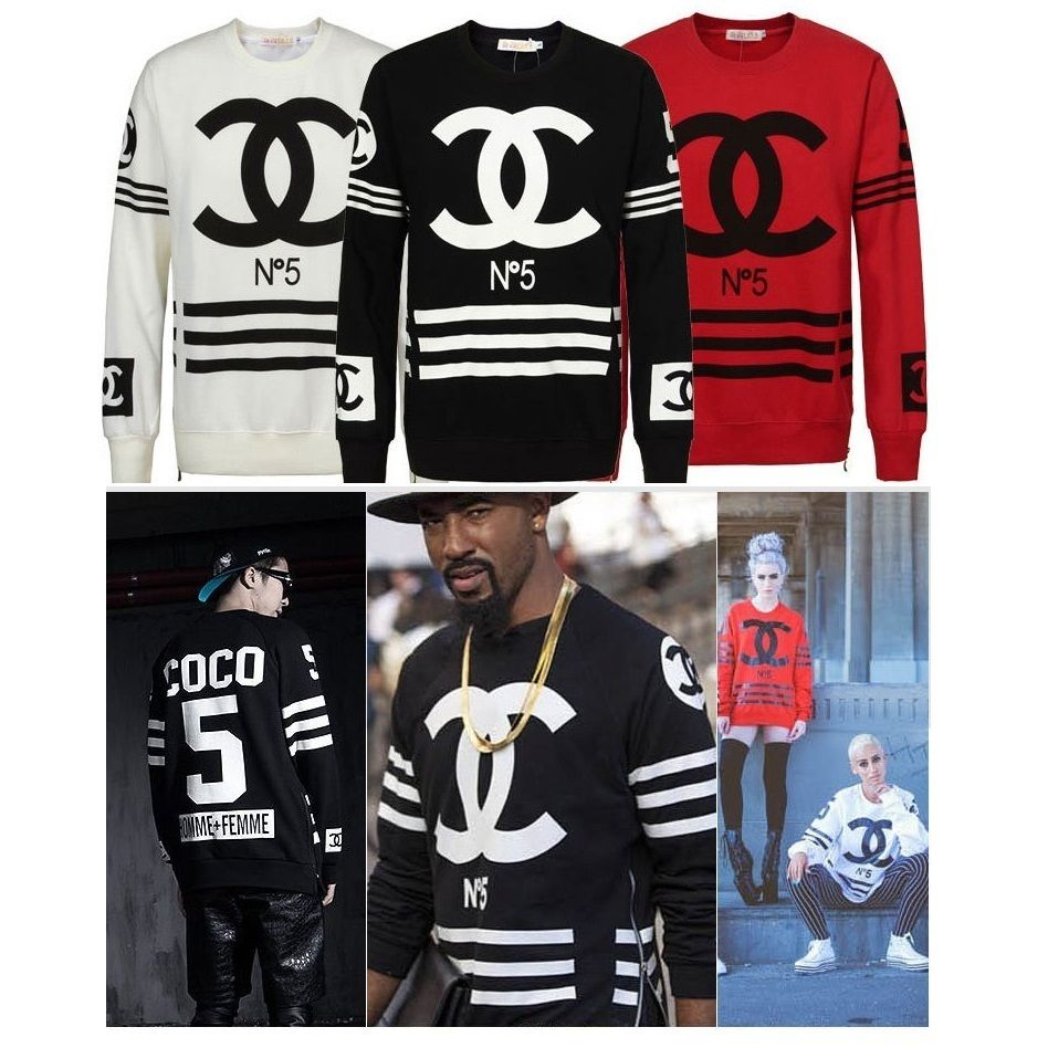 Street fashion homme femme number flannel hip hop rap zipper jumper sweater top