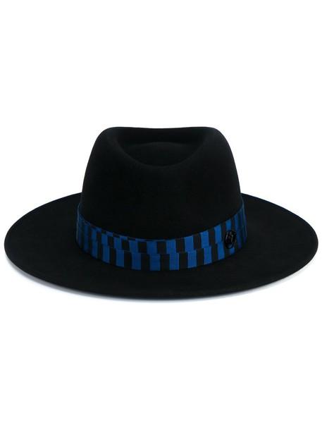 hat fedora blue black