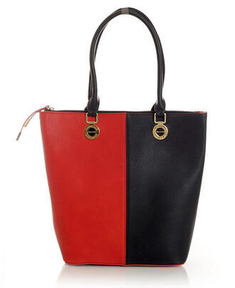 molly dress bag 47301 black and red leather tote bag