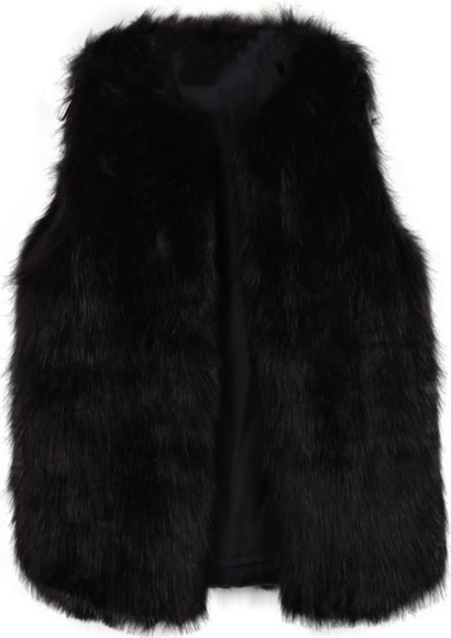 fur fur coat black fur black fur coat black fur vest fur vest