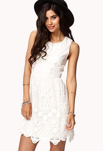 Floral Embroidered Mesh Dress | FOREVER21 - 2048313003