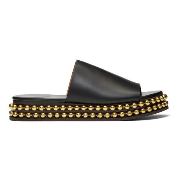 Chloé Chloé Black & Gold Sawyer Sandals