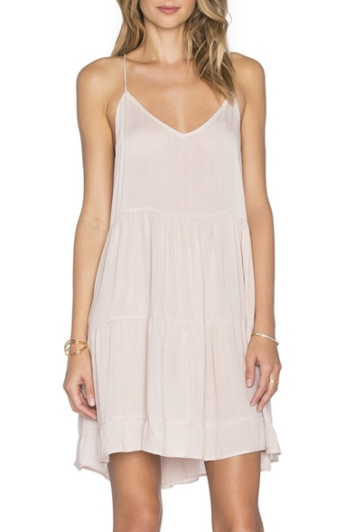 Plain A-Line Camisole Midi Dress
