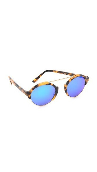 sunglasses mirrored sunglasses blue