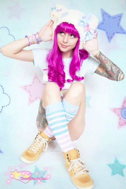 socks kawaii hat