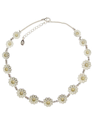 Daisy Chain Collar Necklace | White | Monsoon