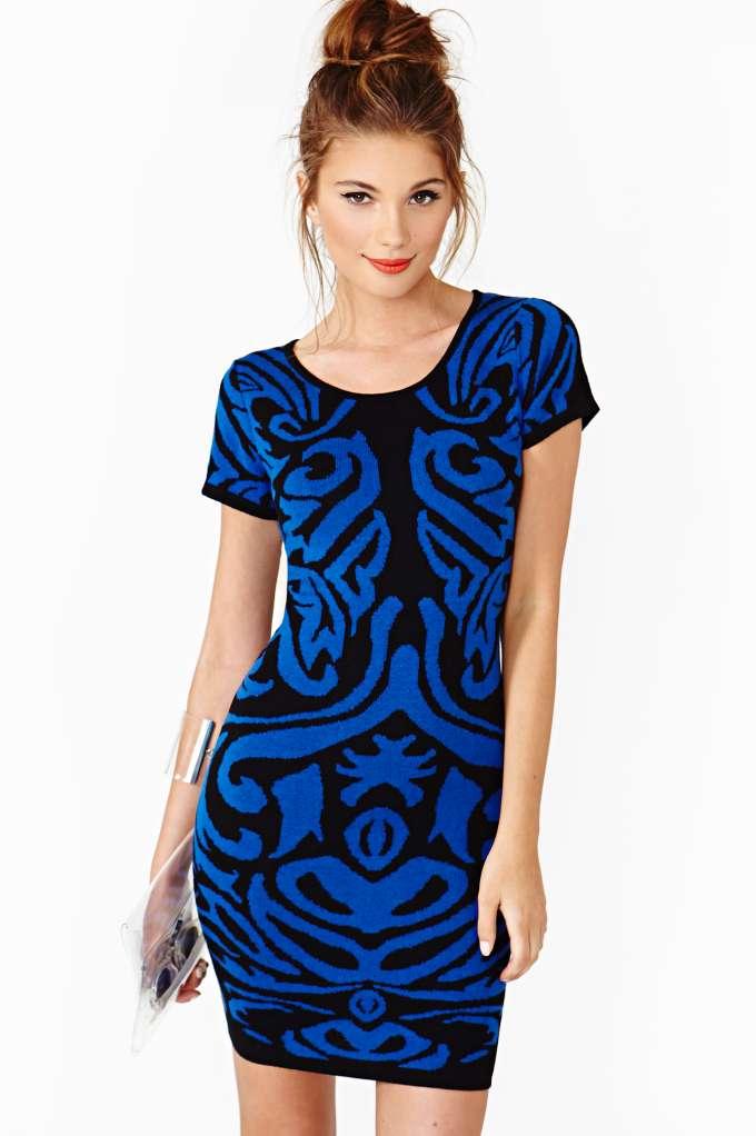 Nasty gal shades of night dress