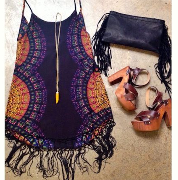 dress boho bohemian summer summer dress boho dress colorful hippie hippie wedges coachella fashion cute festival sun beach indian pattern bright bohemian dress