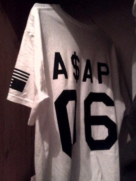 1574a4746279 shirt asap jersey white asap mob black and white ASAP Rocky asap ferg blouse