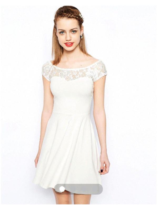 dress white dress vintage girly swag