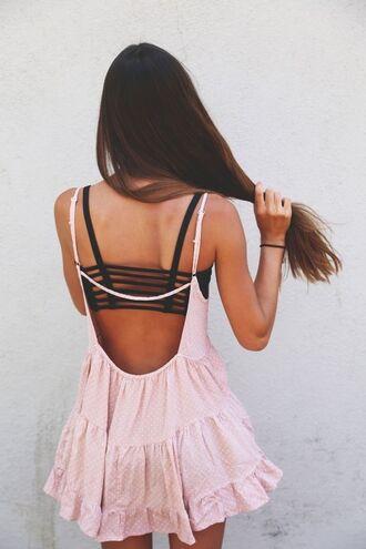 dress pink dotted jada dress jada pretty pink dotted polka dots skinny top