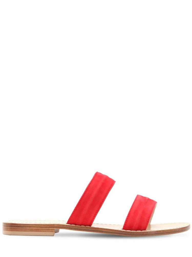 CAPRI POSITANO 10mm Salaria Suede Sandals in red