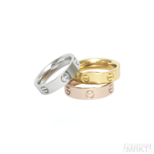cartier designer c96g  jewels cartier cartier ring cartier love ring gold ring rose gold ring ring  stack style silver