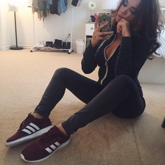 shoes burgundy sneakers tennis shoes comfy sporty stylish streetwear streetstyle adidas shoes fashion jumpsuit adidas adidas originals adidas wings