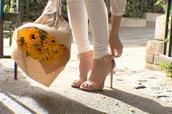 shoes,high heels,cream,black