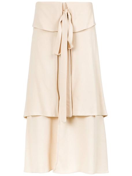 skirt midi skirt women midi layered