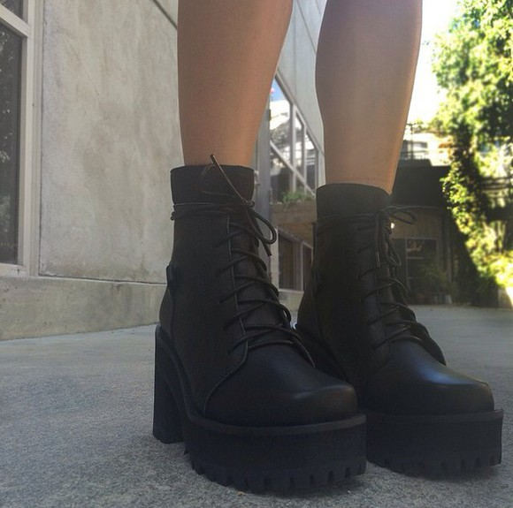 shoes boots wedges chunky boots