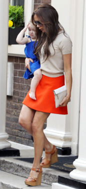 shoes,brown wedges,victoria beckham,light brown wedges,wedges