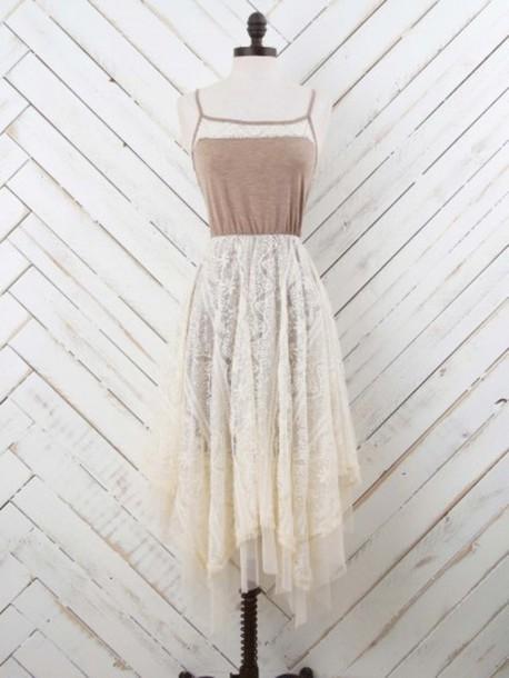 dress summer dress summer outfits spaghetti strap cute cute dress lace dress lace hippie hippie dress
