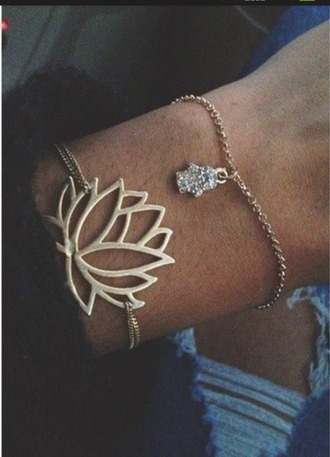 jewels bracelet lotus flower minimalist jewelry