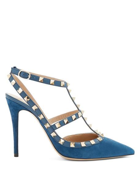 Valentino suede pumps pumps suede blue shoes