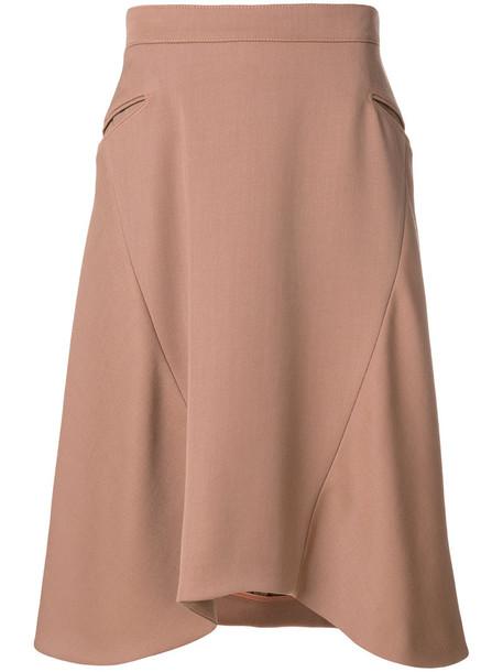 NINA RICCI skirt women wool purple pink