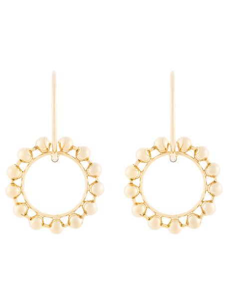 metal women earrings hoop earrings grey metallic jewels