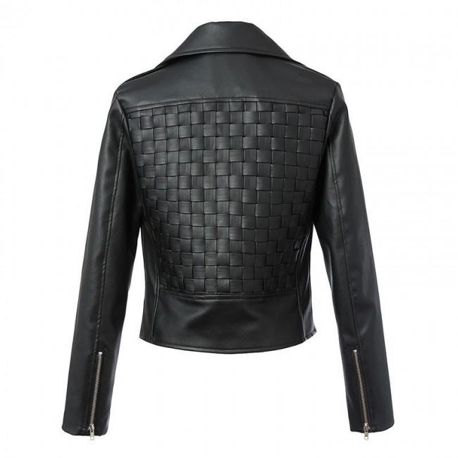 Faux Leather Black Jacket