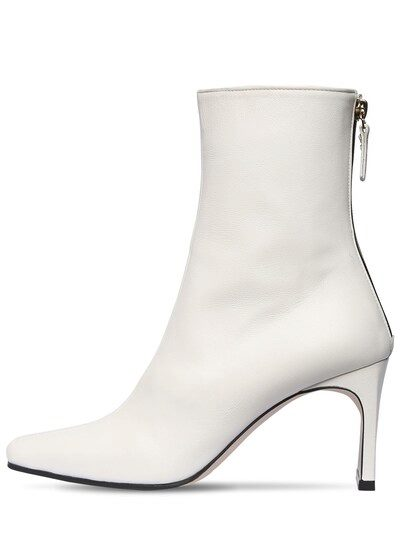 REIKE NEN 80mm Leather Ankle Boots White