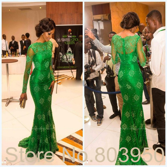 Aliexpress.com : Buy Sheer Lace Long Sleeves Evening Dress With ...