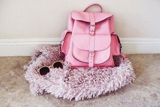 bag pink hipster backpack girly