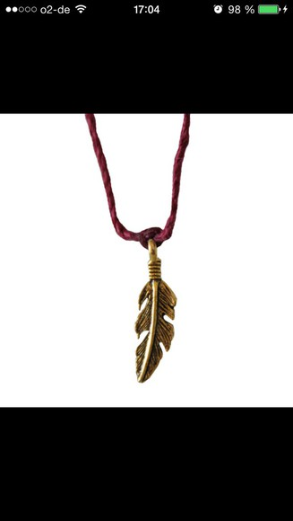 jewels necklace bracelets charm feathers boho