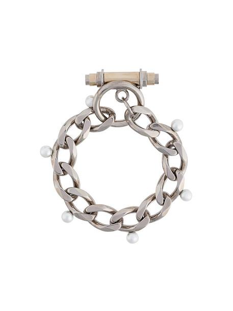 Givenchy women pearl grey metallic jewels