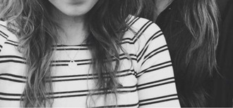 shirt tiffany striped top black and white