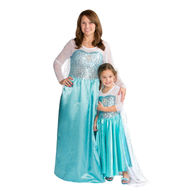 Amazon.com: women snow queen costume dress halloween party dress up: clothing
