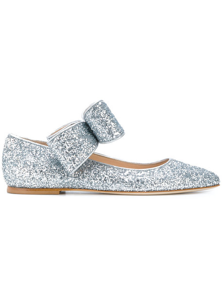 Polly Plume bow women leather grey shoes