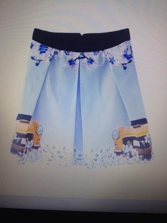 car print a line skirt aline skirt skirt pleated skirt print flowered shorts girly