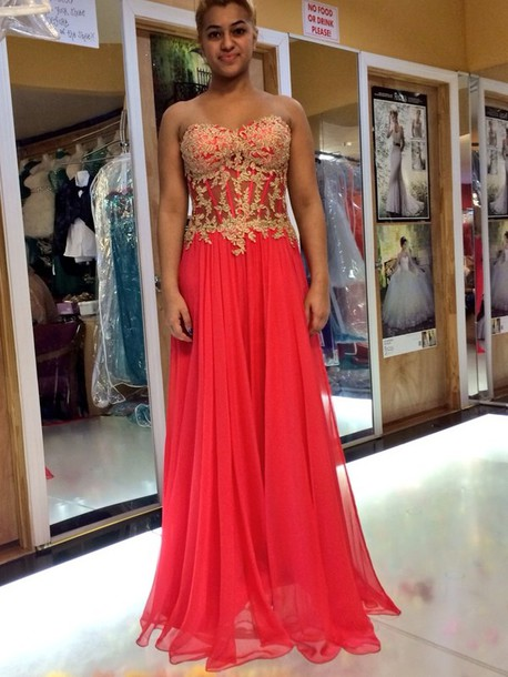Coral gold prom dresses – Dress ideas