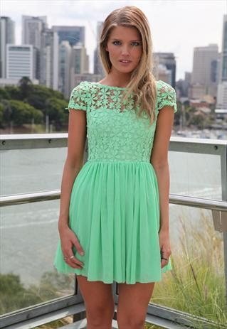 Amazing green splended angel dress tulle lace mini | Xenia Boutique | ASOS Marketplace