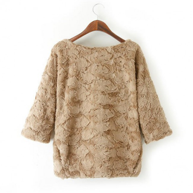 Stylish faux fur sweater