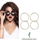 jewels,Jennifer Fisher,gold hoops,earrings,selena gomez